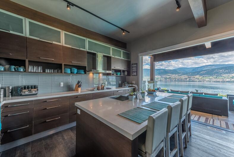 Canada client's wood veneer kitchen cabinet