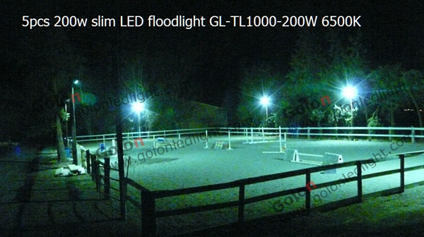 200w led flood light for outdoor race track