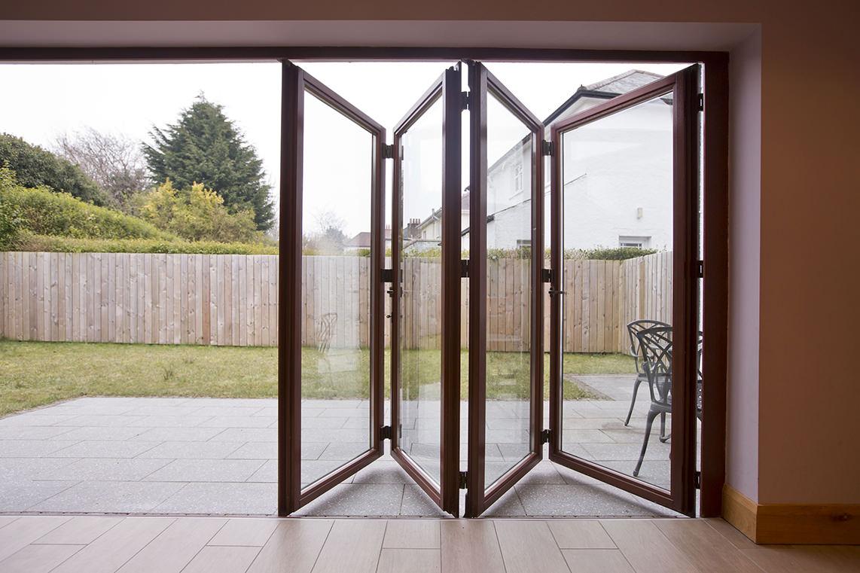 Folding patio door