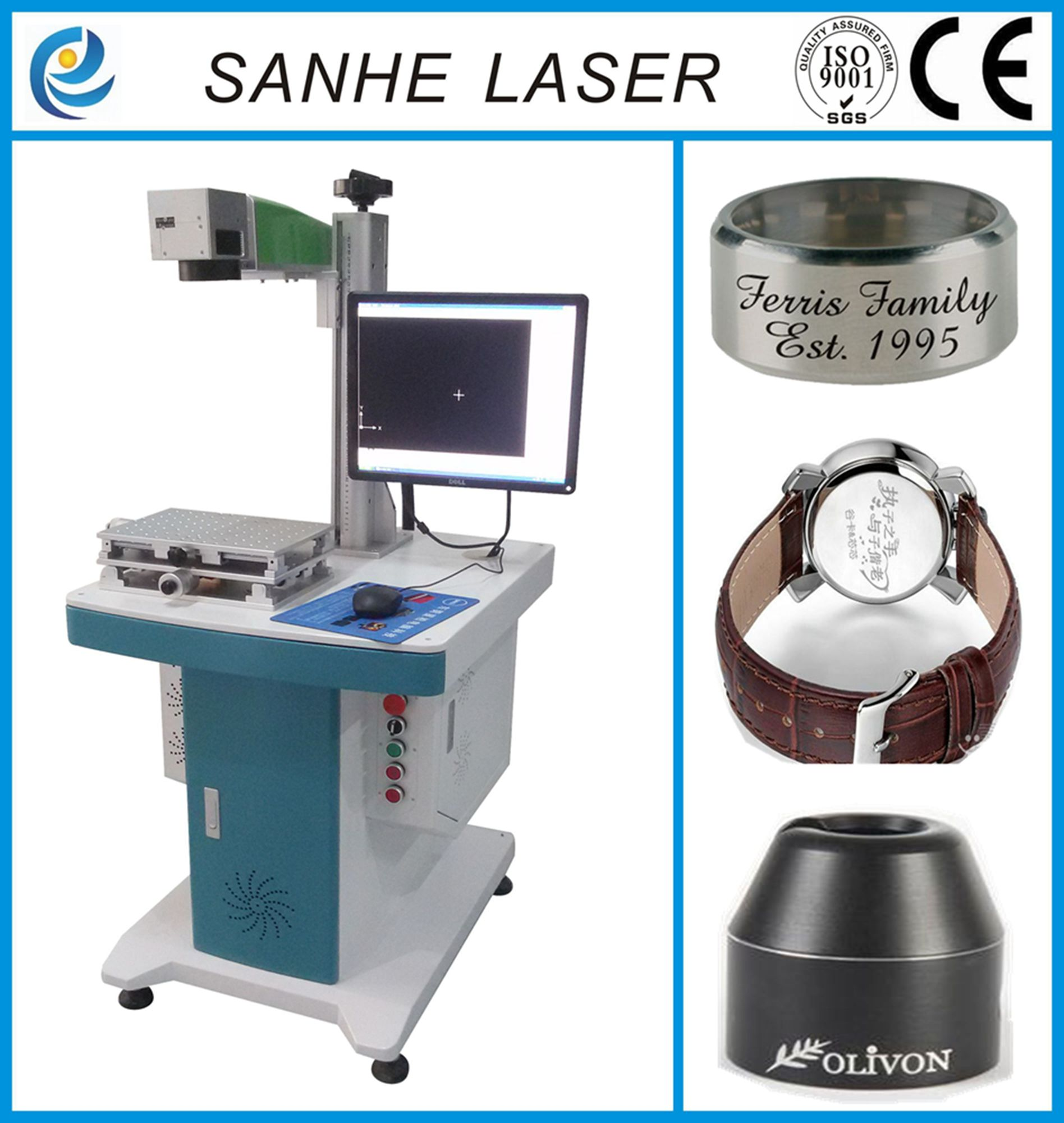 Fiber Laser Marking Machine Engraving Glasses and Rings