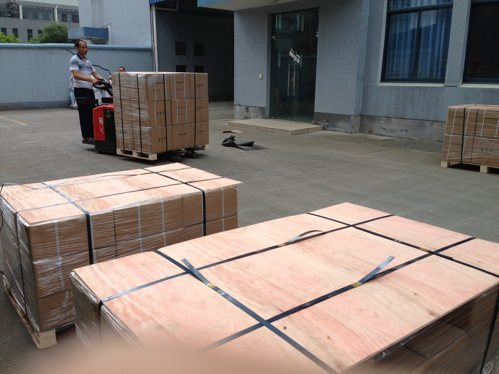 Pallets for the water meters