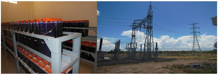 Our medium discharge rate NiCd Battery GNZ300=KPM300 for Cambodia Substation
