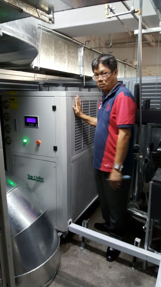 28KW industrial air cooled chiller used in Singapore for food process cooling