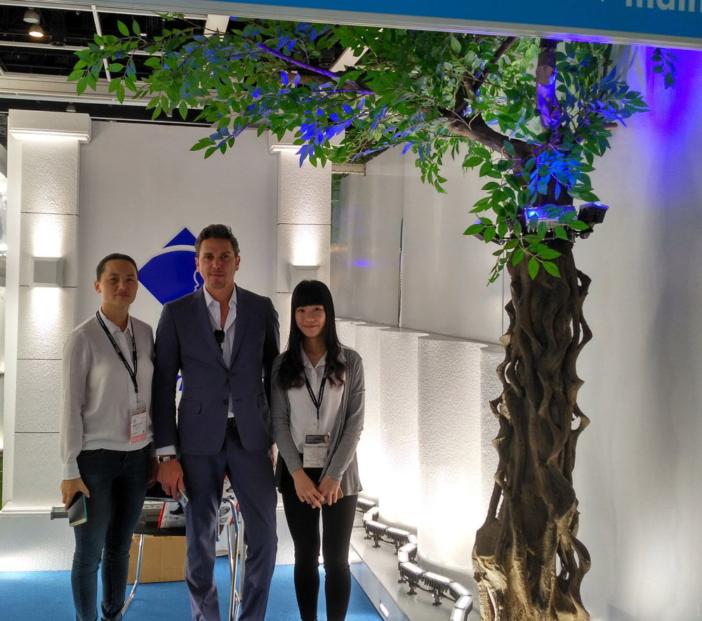Our customer in 2016 HK Spring Lighting Exhibition
