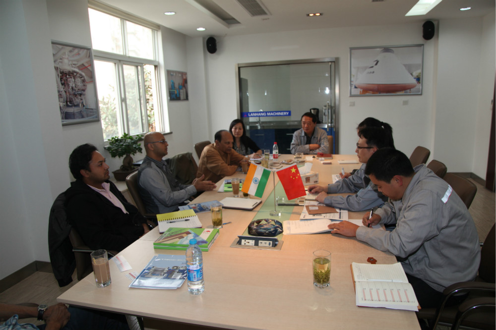 Meeting with foreign clients