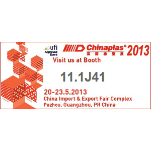 Welcome to Chinaplas 2013(ZQ Booth: 11.1J41)