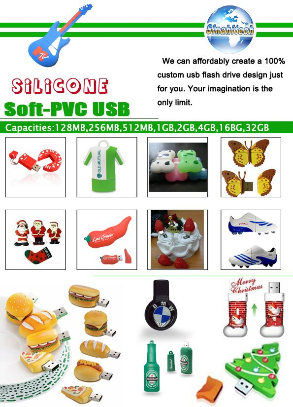 Products Catalogue-Silicone-Soft PVC USB Flash Drives