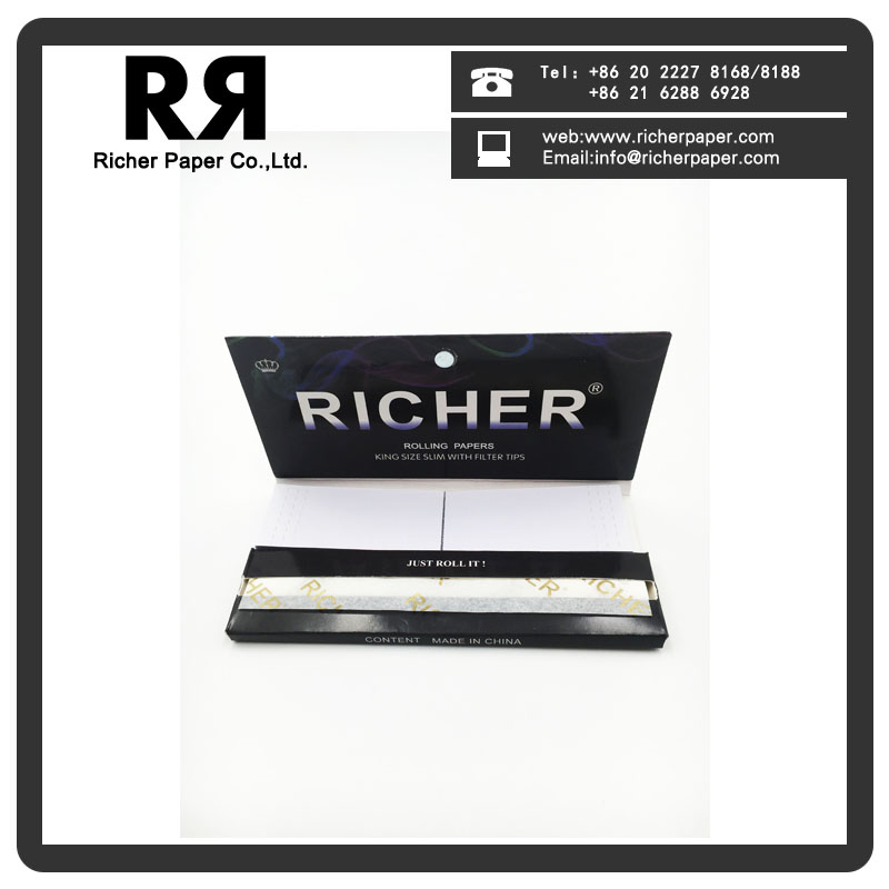 Richer Ultra Thin Original Unbleached Rolling Paper with Magnet Seal