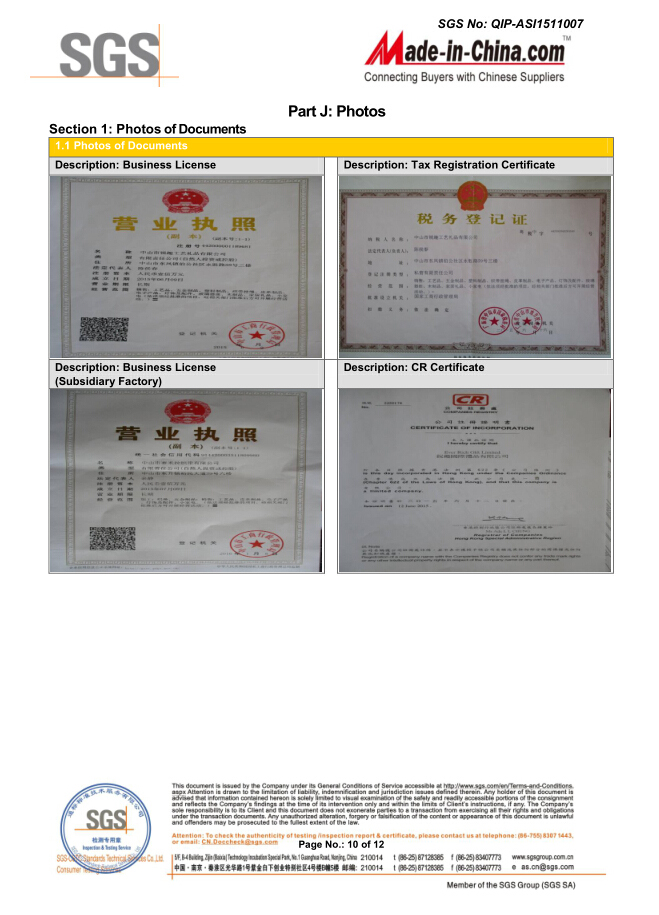 The SGS Report Verification of Ever Rich Gift Limited(10)