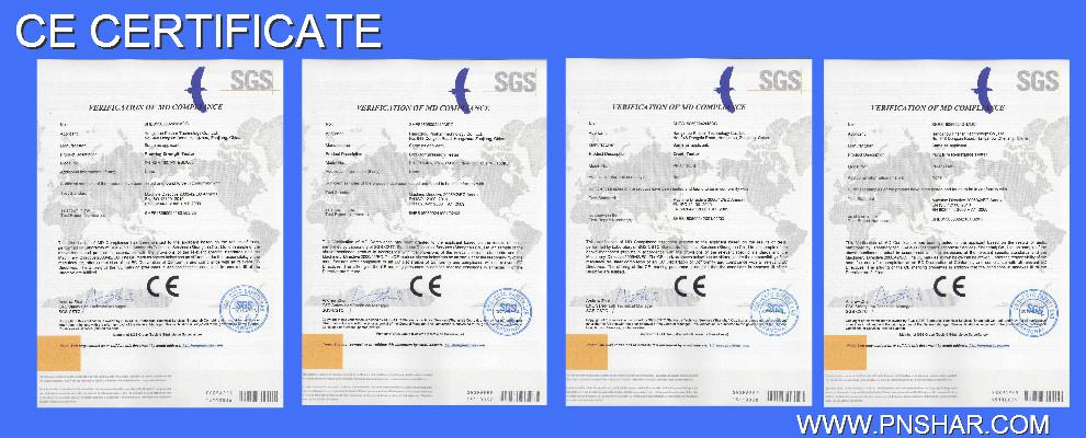 PNSHAR testing equipment has achieved CE certificate