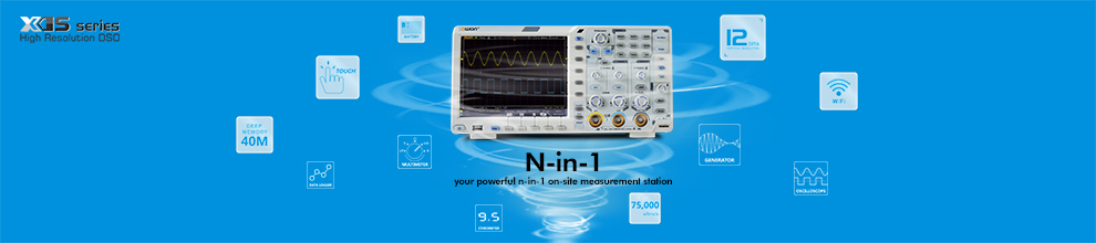 12-bits High Precision Digital Oscilloscope XDS series in Lilliput (OWON) Product Family