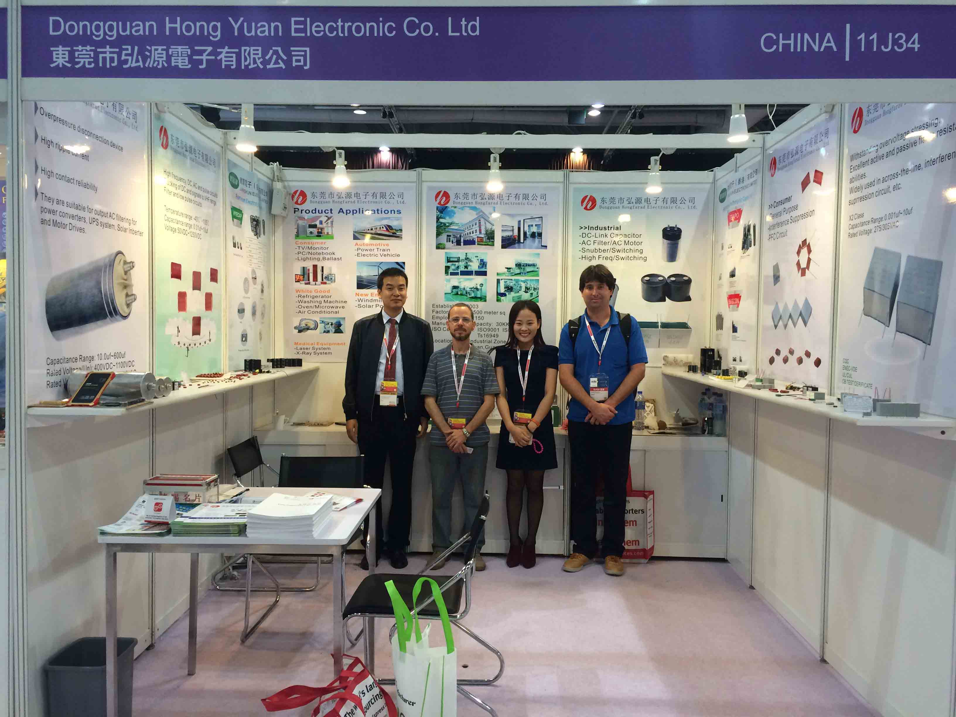 Electronic Exhibition in HongKong with capacitor customer [Apr.,11~14,2016]