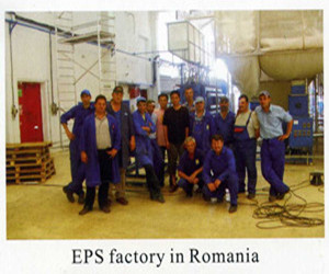 Eps factory in Romania