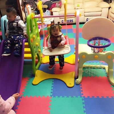 Plastic slide and swing set for family