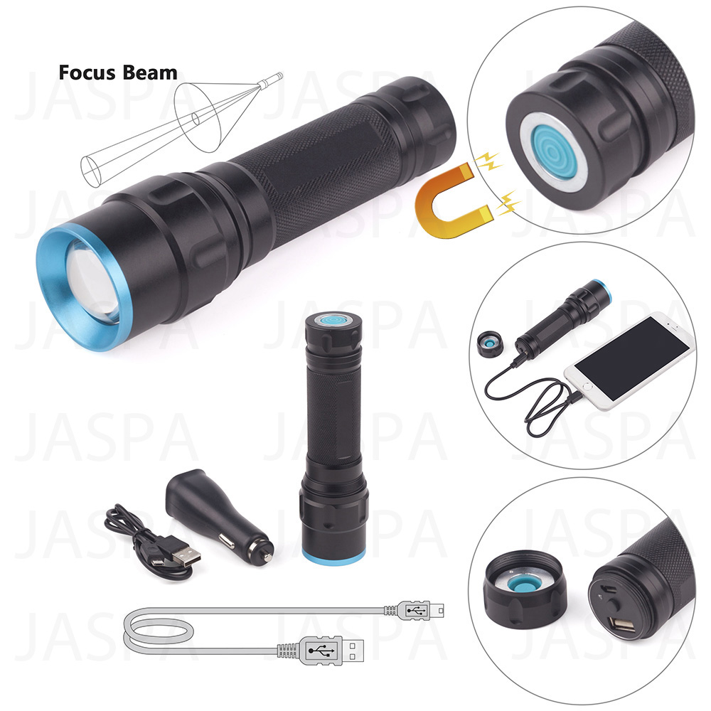 5W Aluminum LED Flashlight with Power Bank Function (16-1S1702)