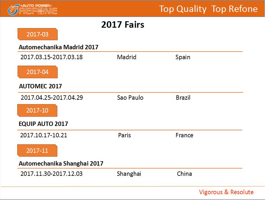 Refone 2017 Fairs