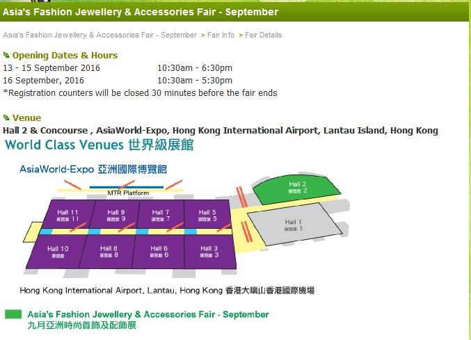 Fair details - September Asia's FAJ