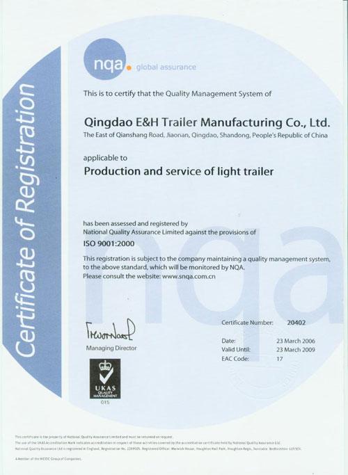 NQA Certificate -English