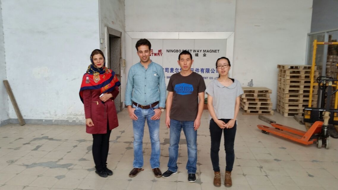 Iran customer visit Ningbo bestway magnet