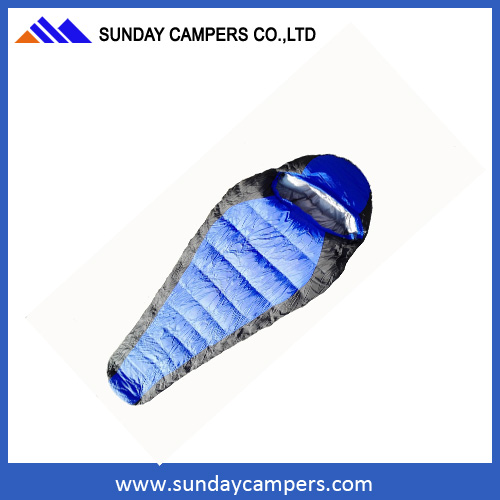 Camping sleeping bag with different color