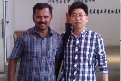 Sales Manager Mr.Guo with Indian Friend