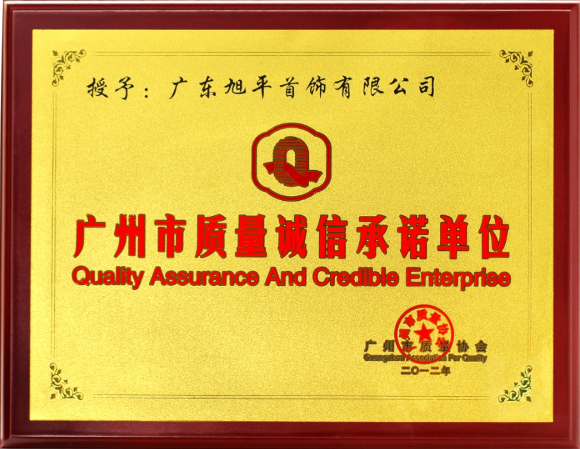 Certificate of Quality Assurance and Credible Enterprise