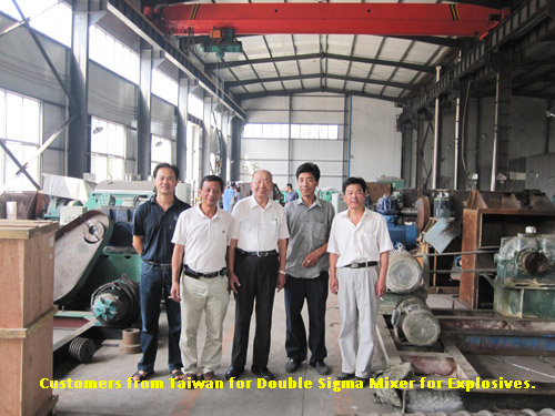 Customers from Taiwan for Explosives Double Sigma Mixer