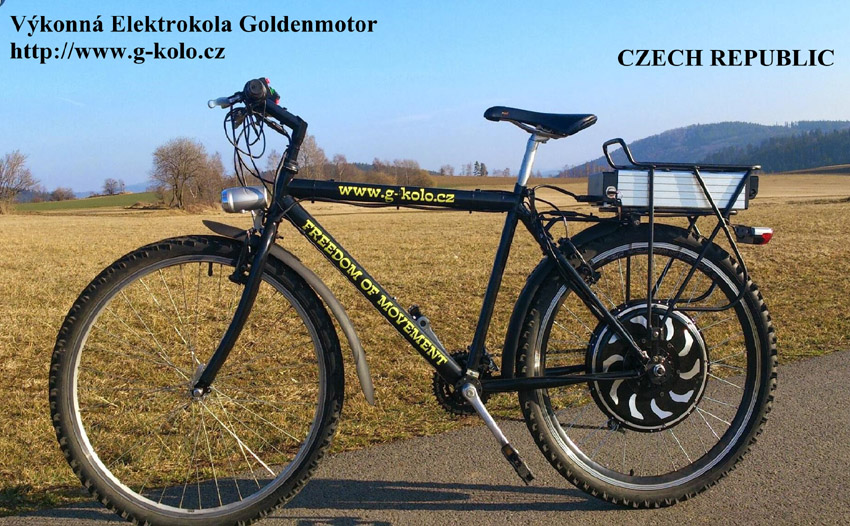 CZECH REPUBLIC Converted bike from Goldenmotor dealer