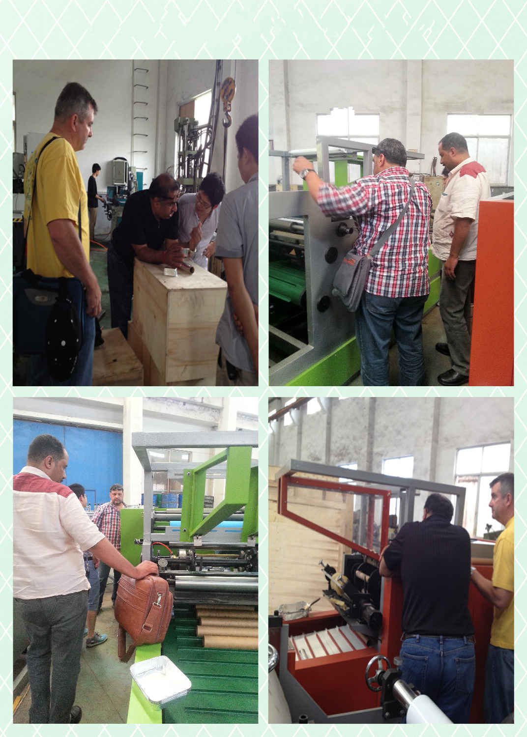 Customers in Our Factory