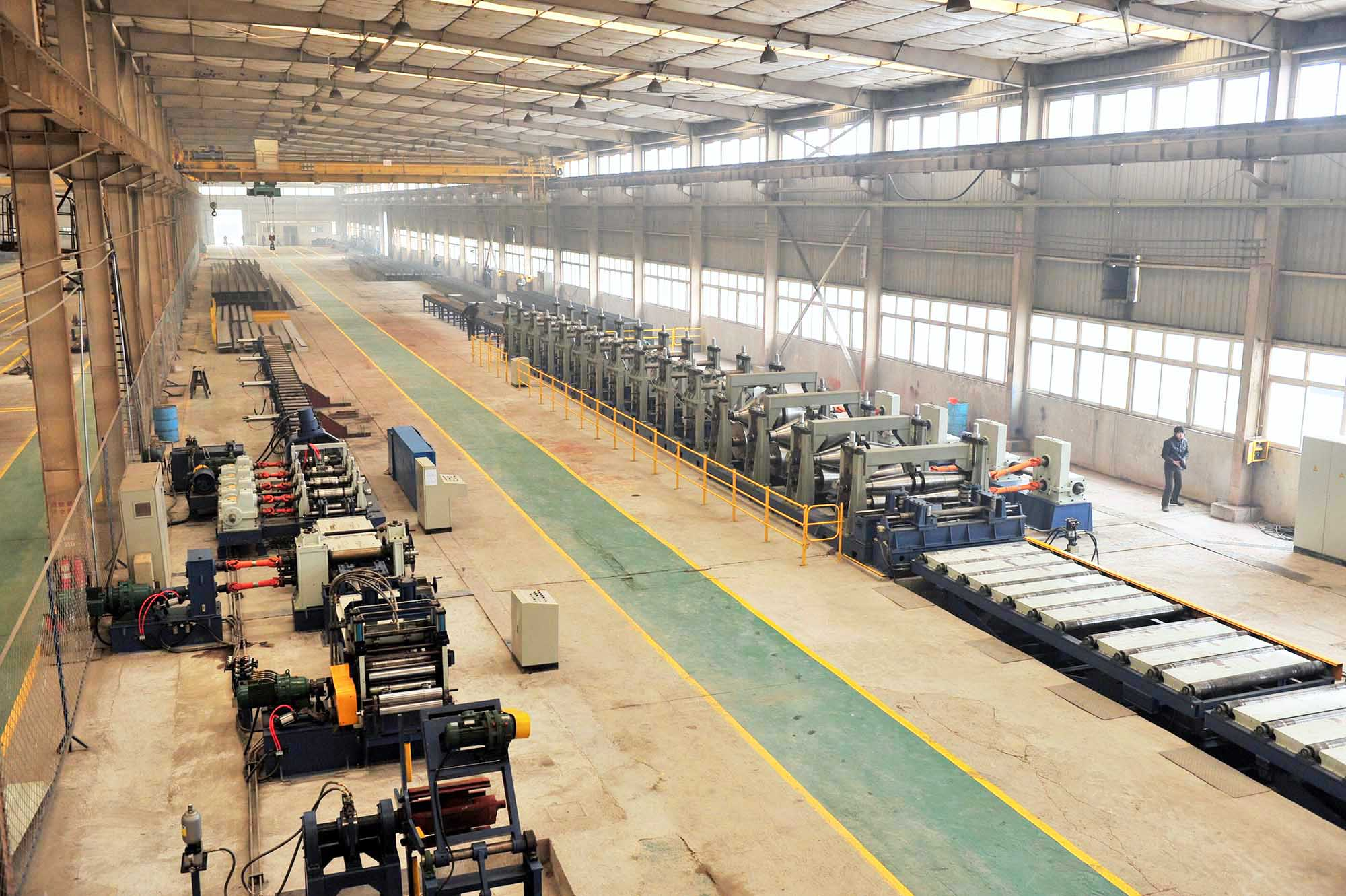 Single girder crane production line