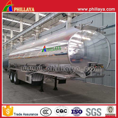 Aluminum alloy liquid tank semi trailer 2
