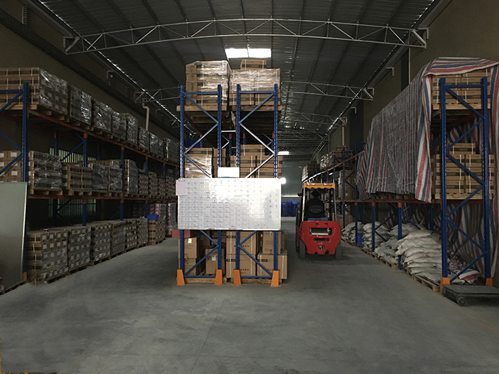 1. Forklift goods from warehouse