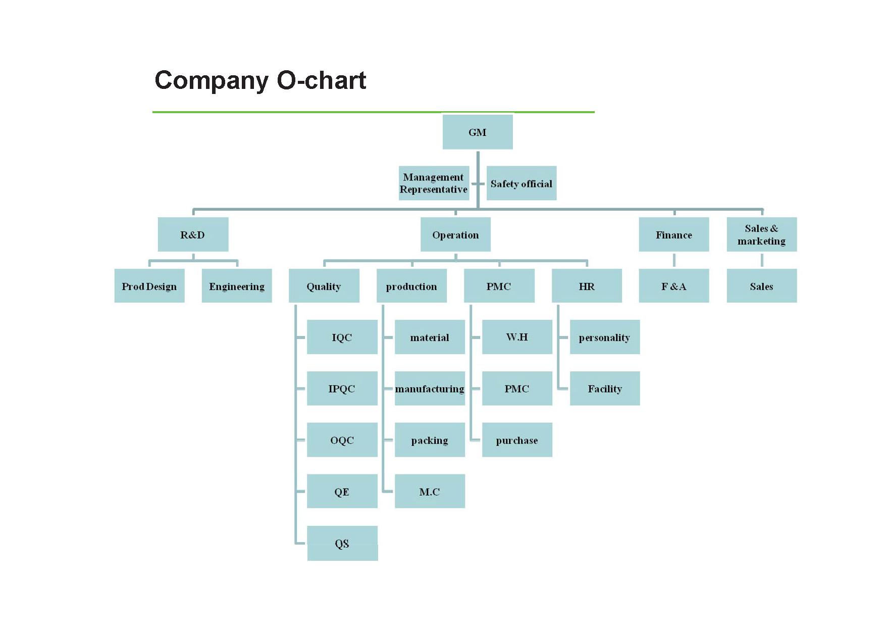 Company O-chart