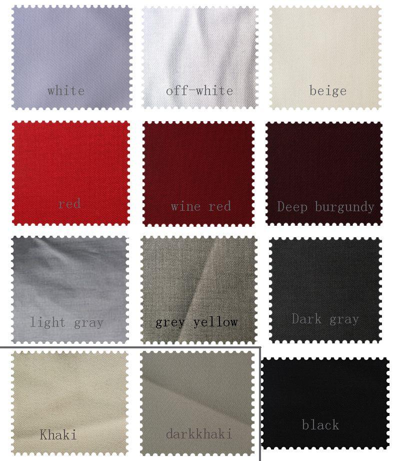 Men Suits Fabric Color Chart for Men Suits Custom Groom Wedding Formal Dresses