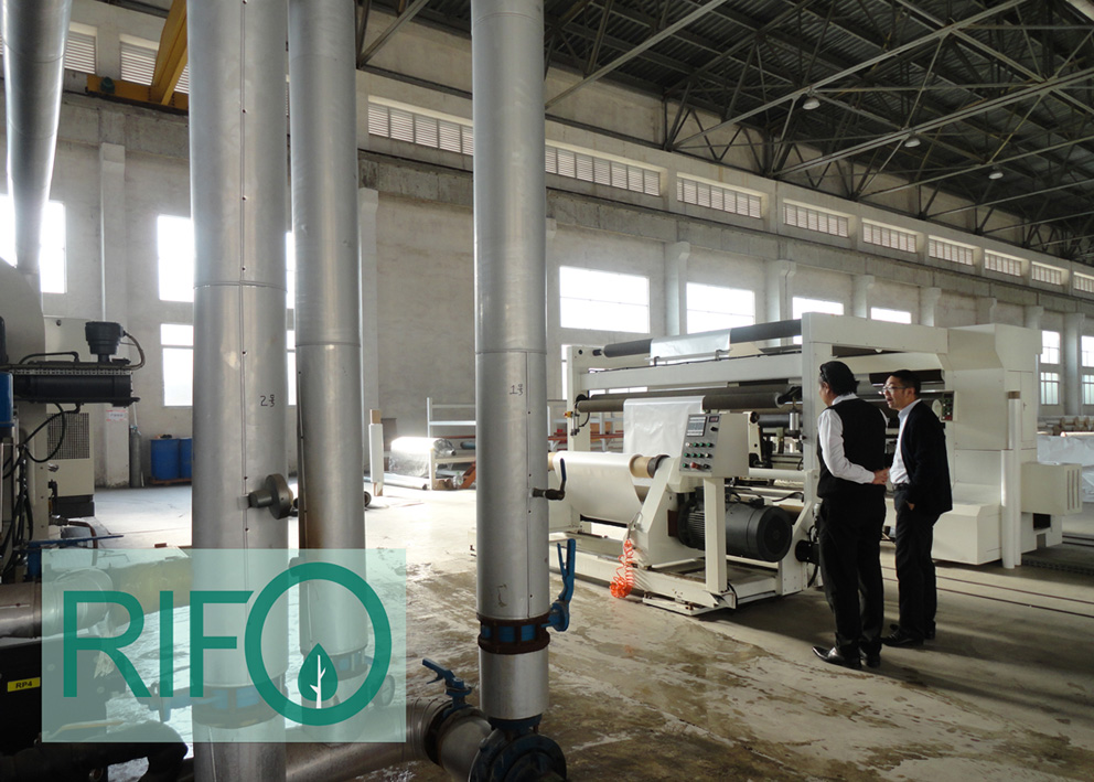 Cooling system of aluminum film line