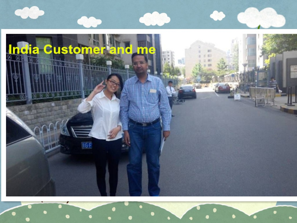 India Customer Visited our SMT PCB Assemble Line in May,2015!