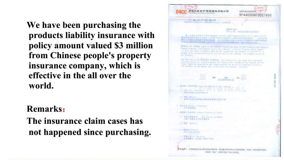PICC Product Liability Insurance