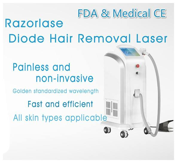 808nm Diode laser hair removal machine for golden standard