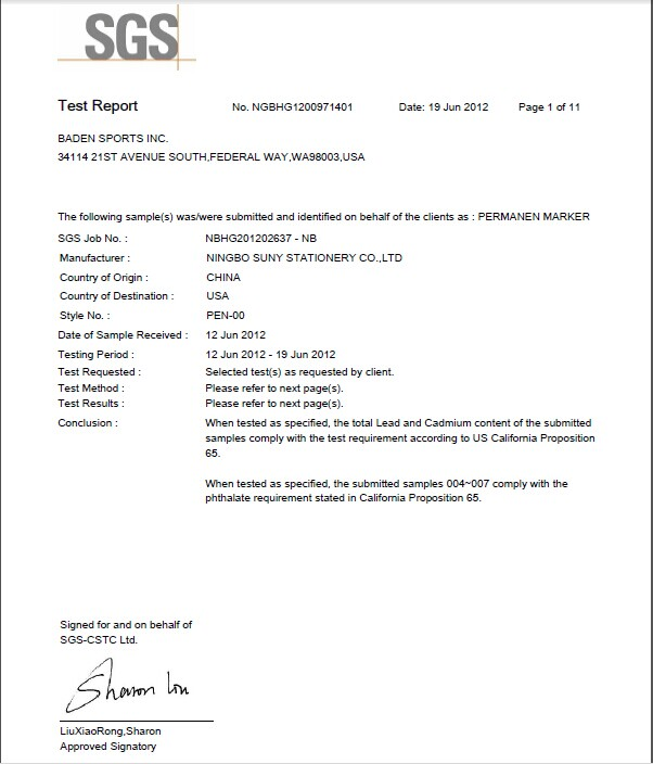 CPSC test report