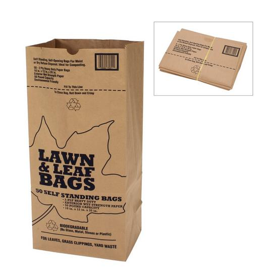 Kraft Paper Lawn and Leaf Bag