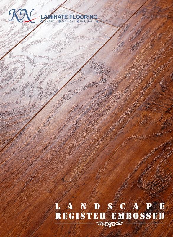Handscraped with Embossed-in-Register(EIR) HDF Laminate Floor