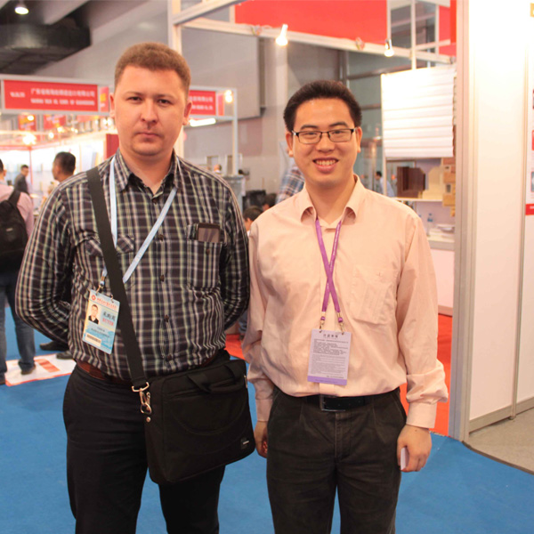Russia client with our sales at the Fair