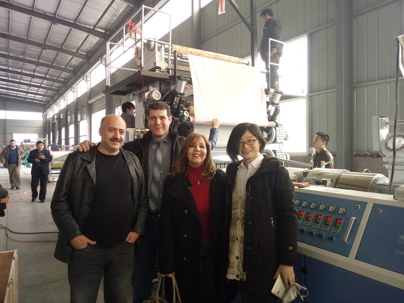 PVC Artificial Marble sheet Production Line for Algeria Customer