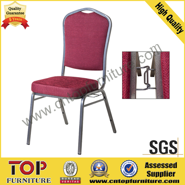 Stacking steel Hotel Banquet Chair with connection buckle