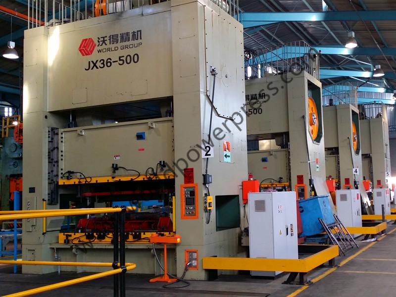 JX36 press line for auto parts in SA
