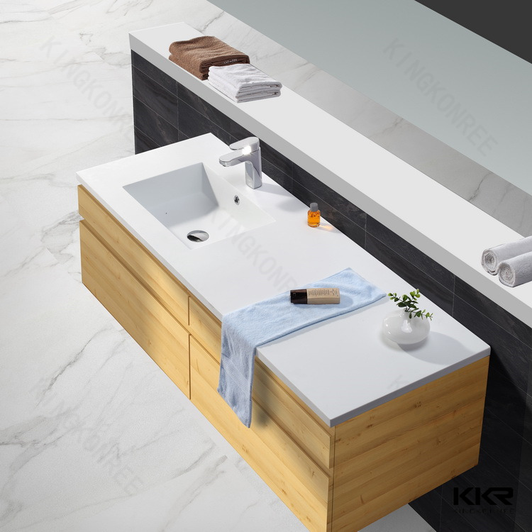 Kingkonree solid surface stone resin bathroom wash basin