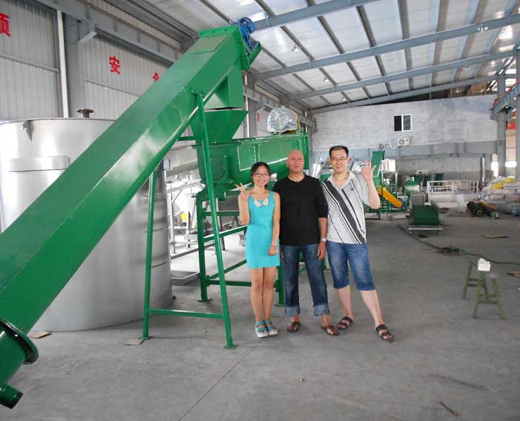 Our U.K customer come to my company inspect the PET washing line