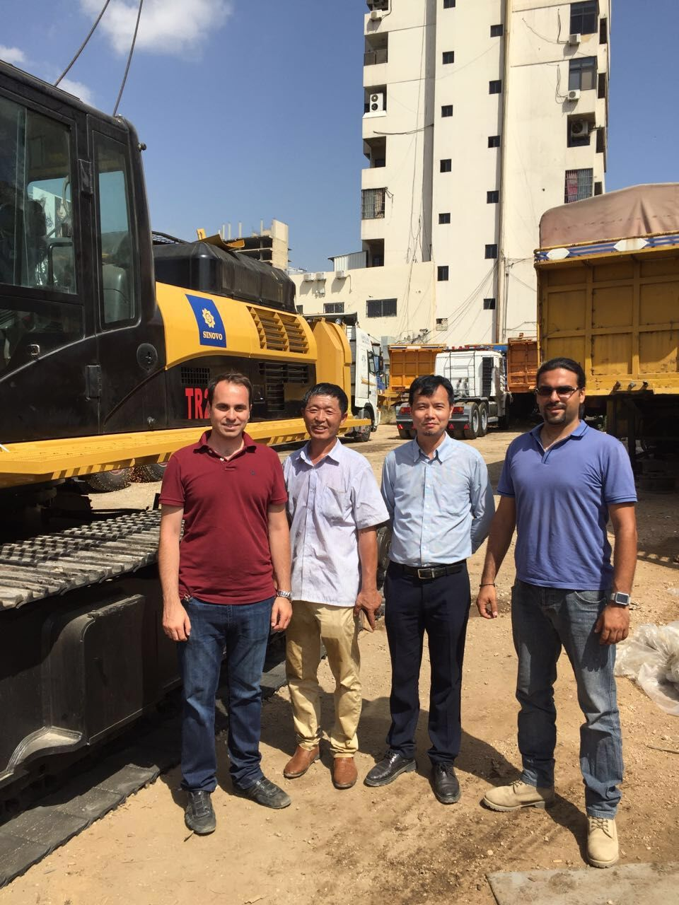 Visiting Rotary drilling rig Customer in Lebanon