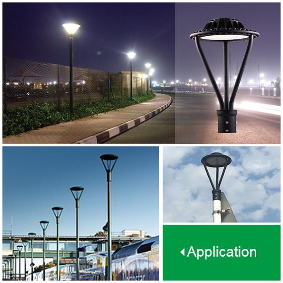 ETL DLC listed Post Top Area Light