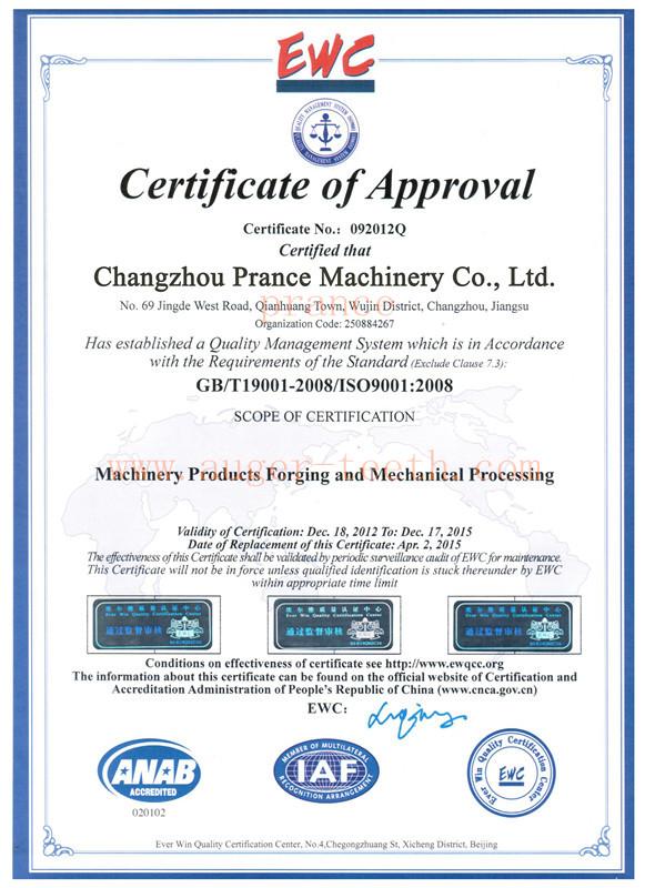 ISO9001 2008 Certificates